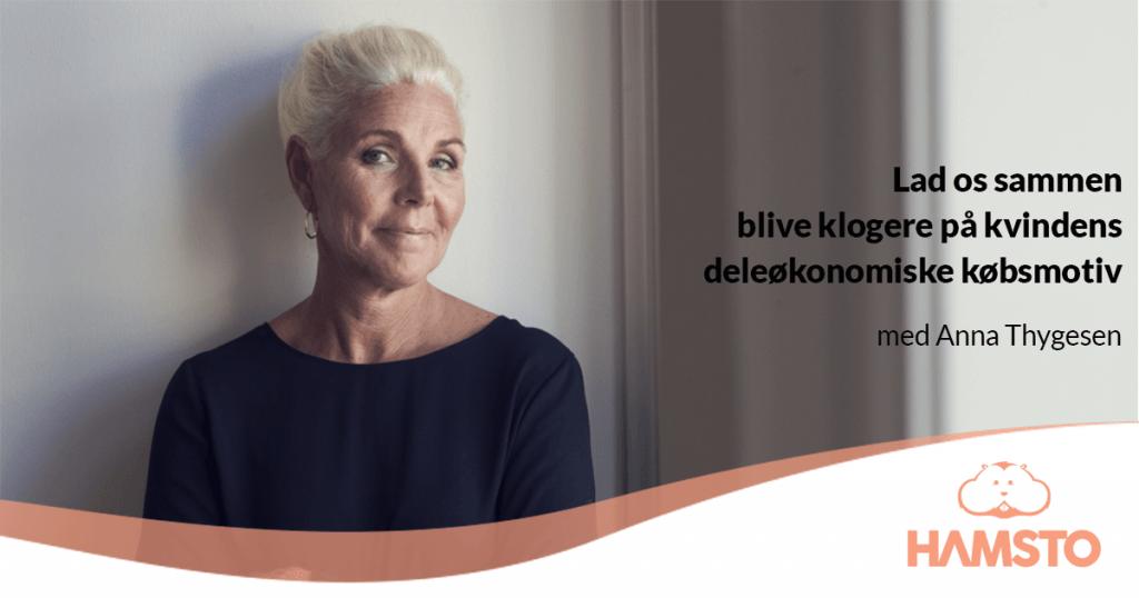 Invitation til event med Anna Thygesen om kvinders købsmotiver